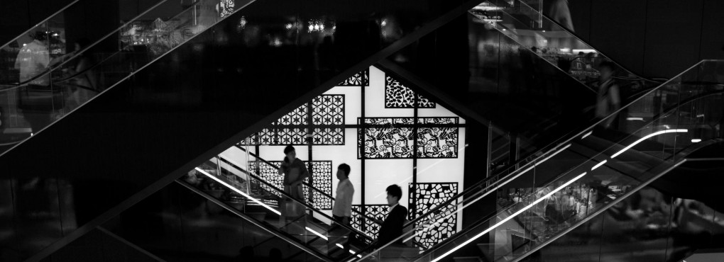 グランフロント大阪のエスカレーター