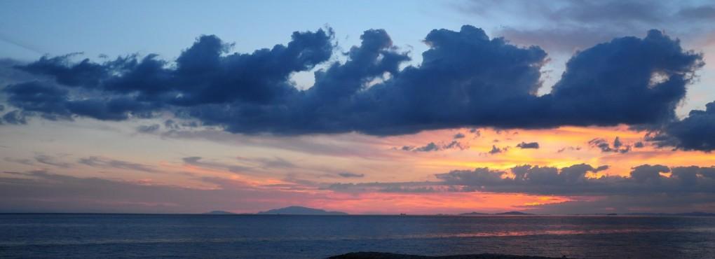 松江海水浴場の夕景