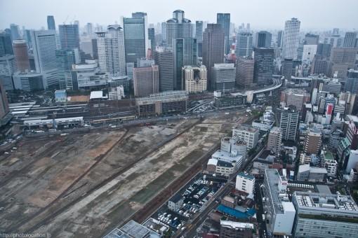 展望台からの梅田の眺め