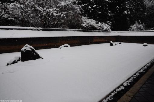 雪の龍安寺